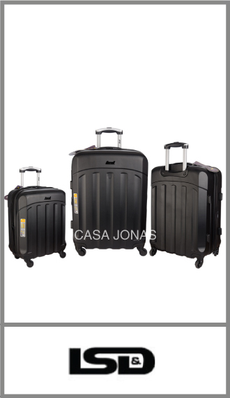 Set de 3 valijas LSD material ABS rígidas con 4 ruedas 360°