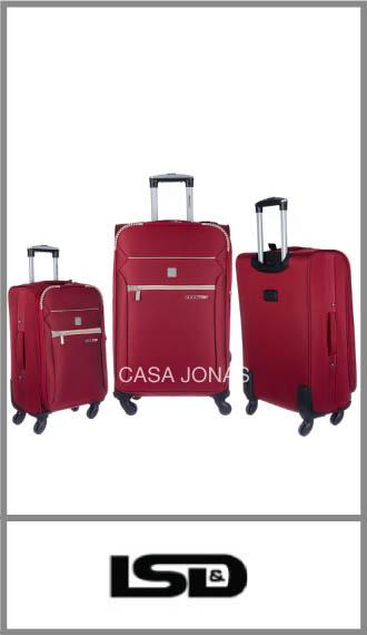 Set de 3 valijas Lsd Good Trip con ruedas 360º y fuelle