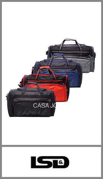 Bolso de viaje Lsd  con 4 bolsillos, medida 53cm x 30cm x 28cm