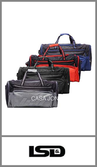 Bolso de viaje Lsd con 4 bolsillos, medida 60cm x 31cm x 28cm