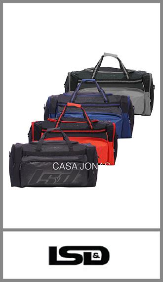 Bolso de viaje Lsd  con 4 bolsillos, medida 68cm x 33cm x 30cm