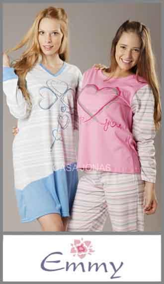 Pijama manga larga Emmy talles especiales 56/60