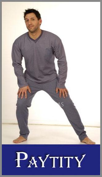Pijama Paytity en jersey mouline liso para hombre en talles 48/54