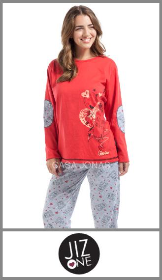 Pijama manga larga Jiz One oferta p/mujer talles especiales 5/7