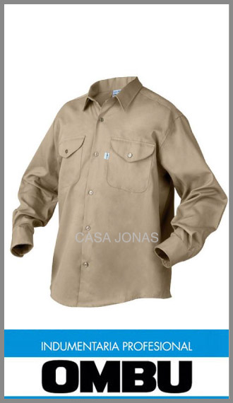 48b845910 Camisa manga larga Ombú ropa de trabajo en talles 38 al 46