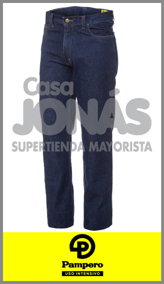 Jean clásico 14 onzas azul indigo Pampero ropa de trabajo talles 38/46