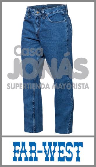 Jean 14 onzas azul indigo Far West uso ropa de trabajo talles 56/60