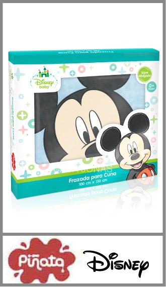 Frazada flannel estampada Piñata licencias Disney para cuna funcional