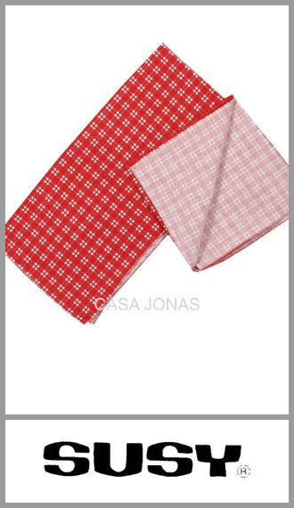 Servilleta 100% algodon a cuadros Susy medida 35cm x 35cm