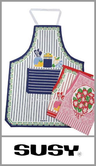 Delantal de cocina con pechera Susy medida 60cm x 76cm