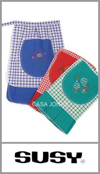 Delantal de cintura para cocina Susy medida 44cm x 60cm