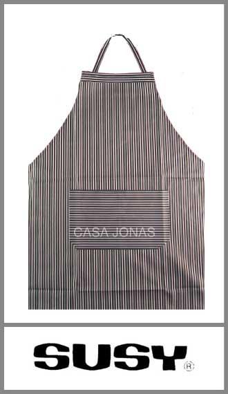 Delantal de cocina con pechera Susy medida 63cm x 76cm