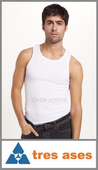 Camiseta musculosa en morley Tres Ases talles 48/50