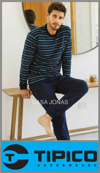 Pijama Típico p/hombre casaca jersey rayada pantalon liso t S/XXL