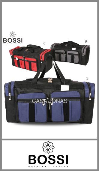 Bolso de viaje Bossi  con 6 bolsillos, medida 60cm x 29cm x 25cm