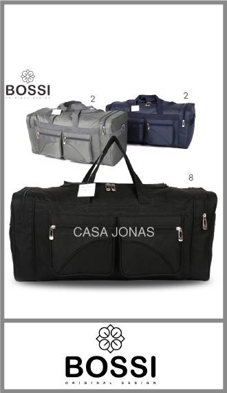 Bolso de viaje Bossi  con 4 bolsillos, medida 65cm x 30cm x 26cm