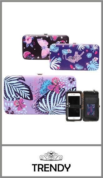 Billetera fichero de mujer Trendy con broche