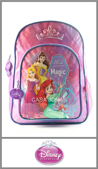 Mochila infantil Princesas Disney Grande 29cm x 40cm x 15cm