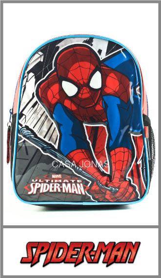 Mochila infantil Spiderman Marvel estampa cristal 24cm x 31cm x 11cm